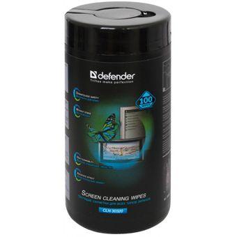 Салфетки для экранов всех видов - туба Defender ECO 100 шт.