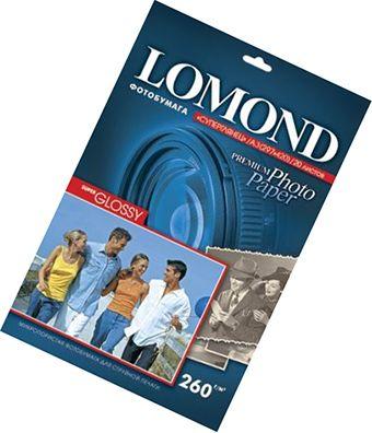 Фотобумага А3, одн, суперглянец яркий, 260г, 20л, (Lomond)5760 dpi /1103130*