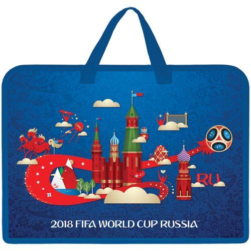"""Папка с ручками А4 Hatber """"ЧМ по футболу 2018"""", пластик"""